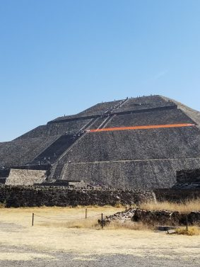 Pyramid of the Sun from below