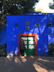 Inside Casa Azul Courtyard